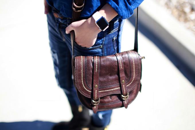 Denim Combo And Saddle Bag