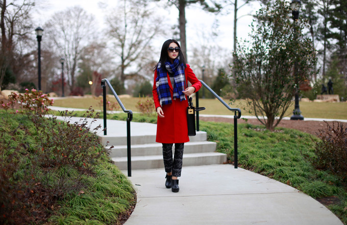 Red Coat And Sophie Hulme
