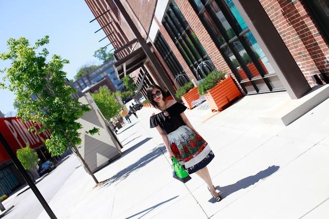 Off The Shoulder & Midi Skirt