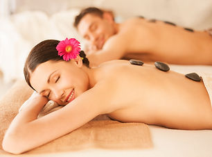 picture of couple in spa salon with hot