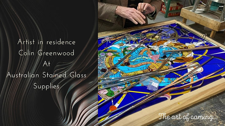 The art of caming by a stained glass aritist