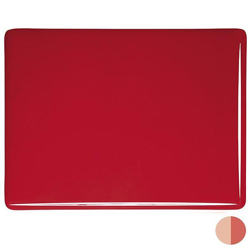 Tomato Red Opalescent, Double-rolled, 3 mm, Fusible,