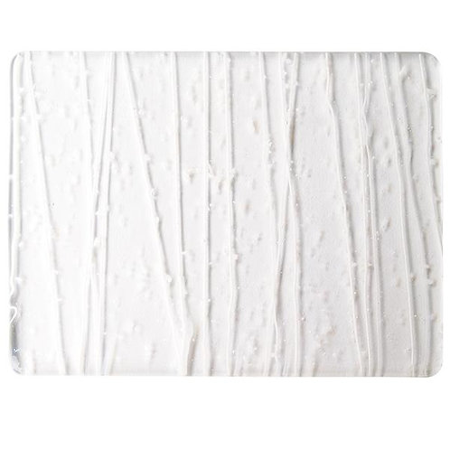 Vanilla and White Frit, Vanilla and White Streamers Clear Base Collage, Single-r