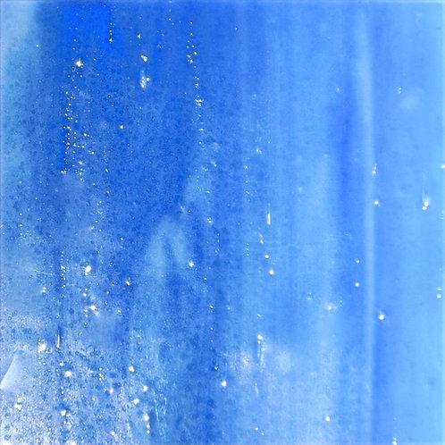 Steel Blue/White Wispy Opal 260 x 240mm