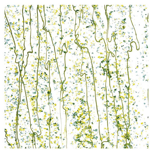 Dark Green, Spring Green, and Yellow Frit, Spring Green Streamers Clear Base Col