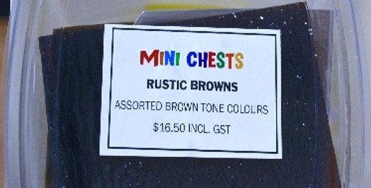 Mini Chests Rustic Browns Mix