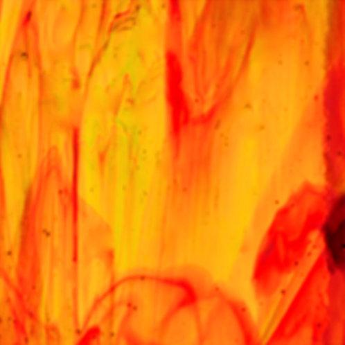 Orange Green Yellow Streaky Opal 260 x 240mm