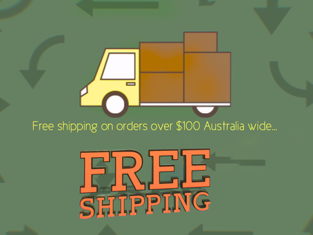 Free shipping for orders over $100.00