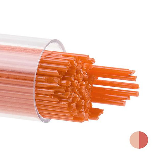 Orange Opalescent, Stringer, 1 mm, Fusible, by the Tube