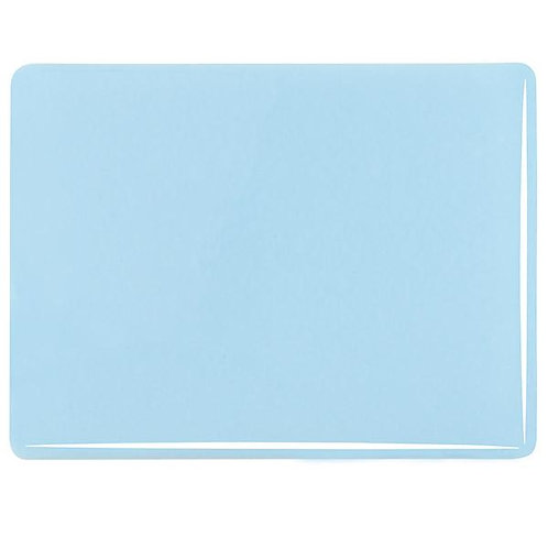 Glacier Blue Opalescent, Thin-rolled, 2 mm, Fusible,