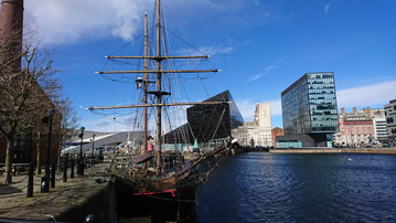 Old Meets New at Liverpool Docks