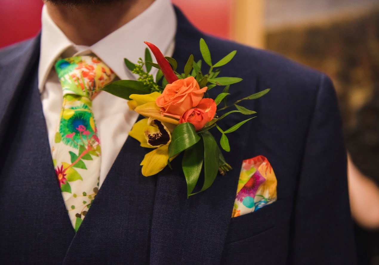Colourful Groomsmen Style comes into it's own for Zoom weddings