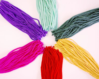 Hand dyed chainette tassels