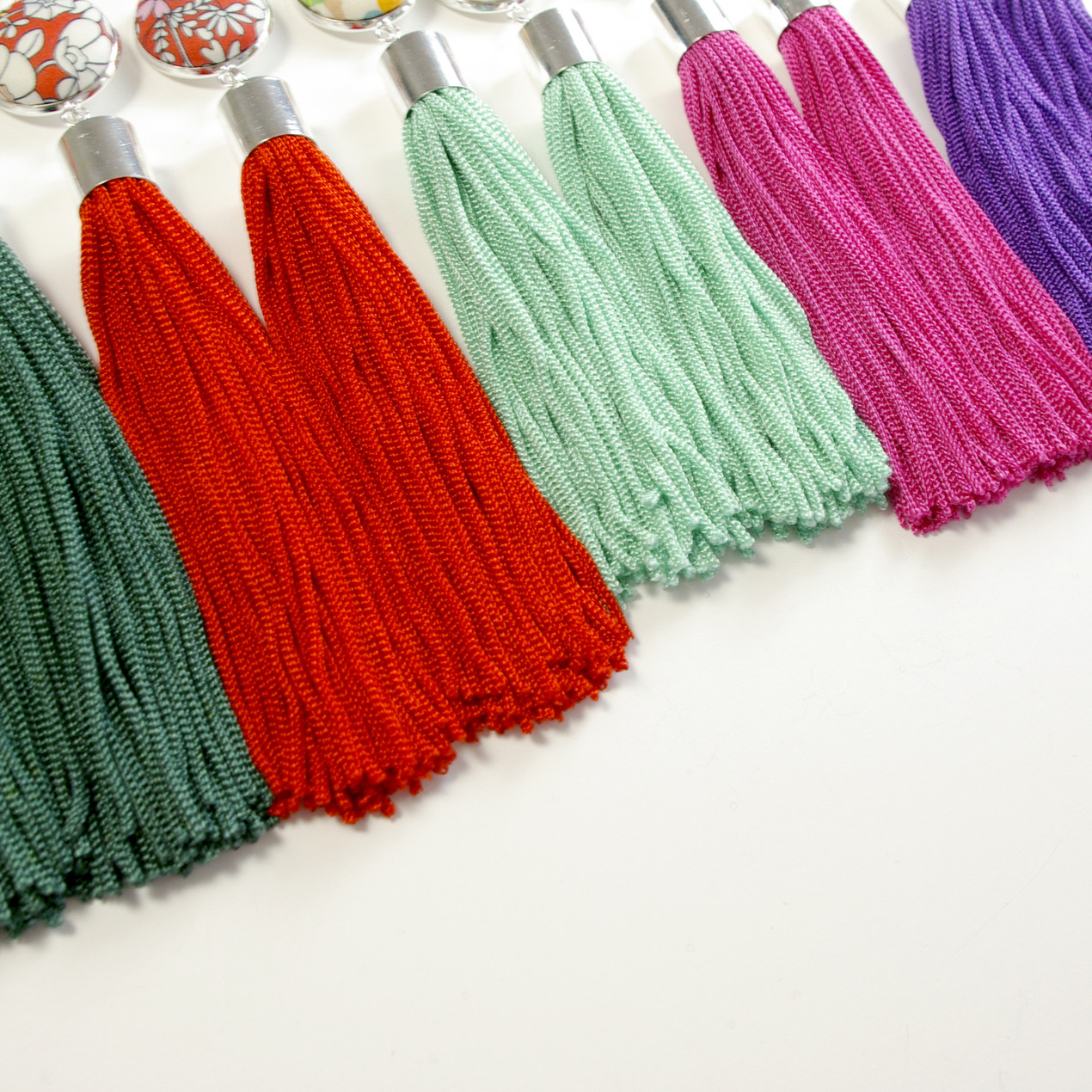 Statement Tassel Earrings on Etsy, perfect waist-up style for your Zoom wedding celebrations.