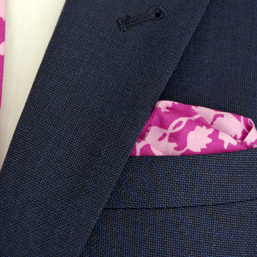 Bright Pink Liberty Print Tie and Pocket Square