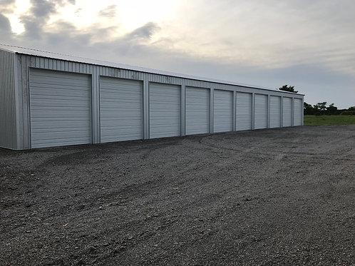 50' x 14' Enclosed Storage Bay w/ 12' x 14' Door