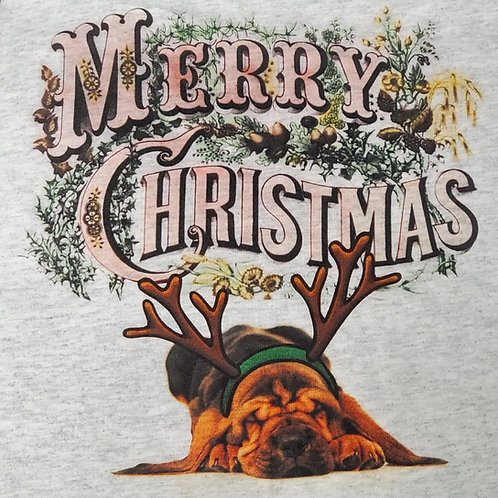 Merry Christmas Bloodhound Shirt