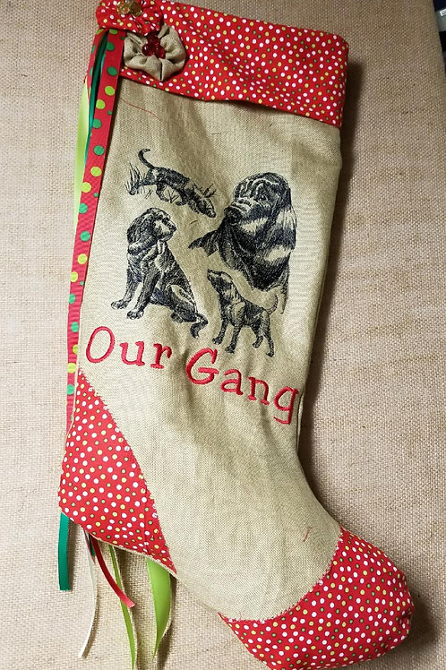 Our Gang Holiday Stocking