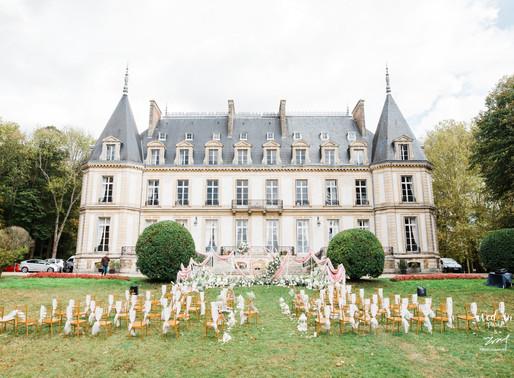 Wed'in Paris | 法国马卡龙粉城堡婚礼——你喜欢的样子我都有