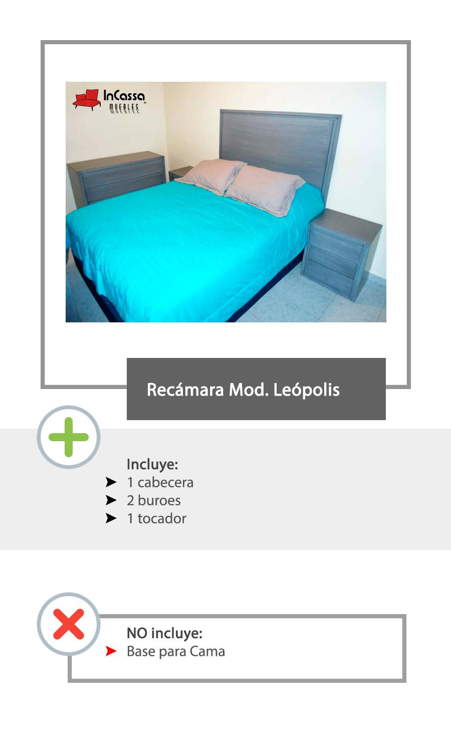 Recamara leopolis minimalista matrimonial buros cabecera for Precio recamara matrimonial