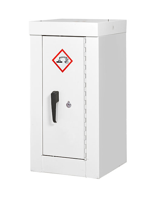 Acid & Alkali Security Cupboard - H900 x W460 x D460mm, 1 Shelves
