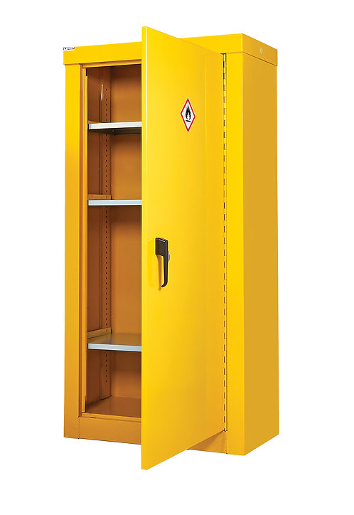 Hazardous Substance Security Cabinets - H1800 x W900mm x D460mm, 3 Shelves