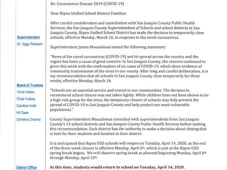 RUSD School Closure