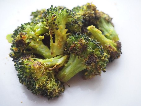 Crispy cheesy roasted broccoli