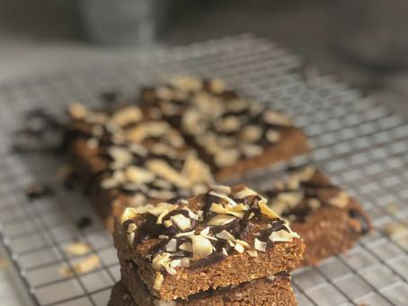 Coconut caramel coffee non-bake protein bars