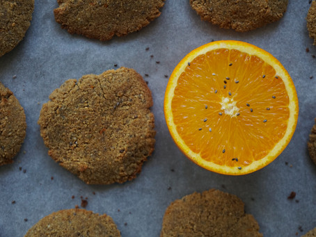 Orange and olive oil chia seed cookies
