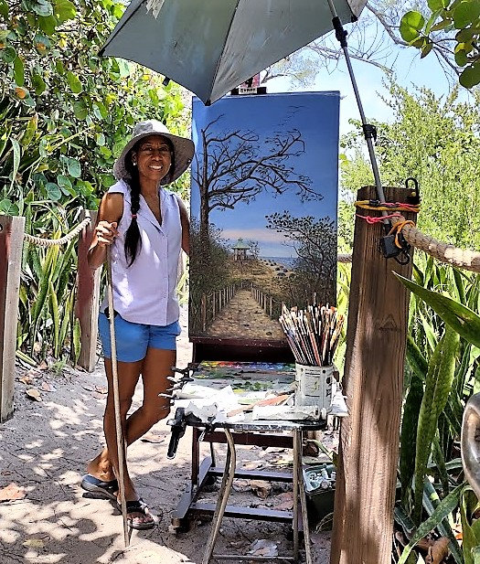 Olivia Peguero Artist Portrait Working Onsite.jpg