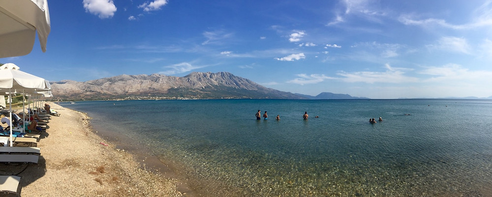 The Inland sea of the South Ionian looking towards Palairos, Greece