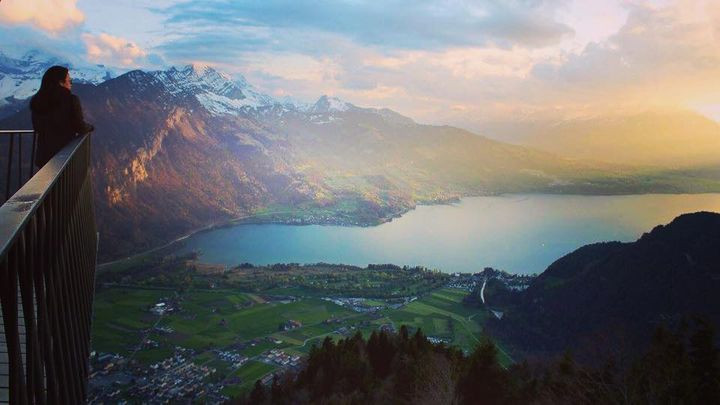 Visiting the top of Interlaken and Europe, Switzerland