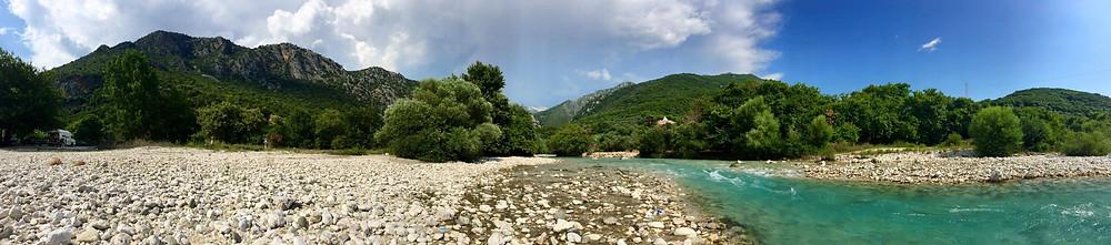 Acheron River near Parga in Greece
