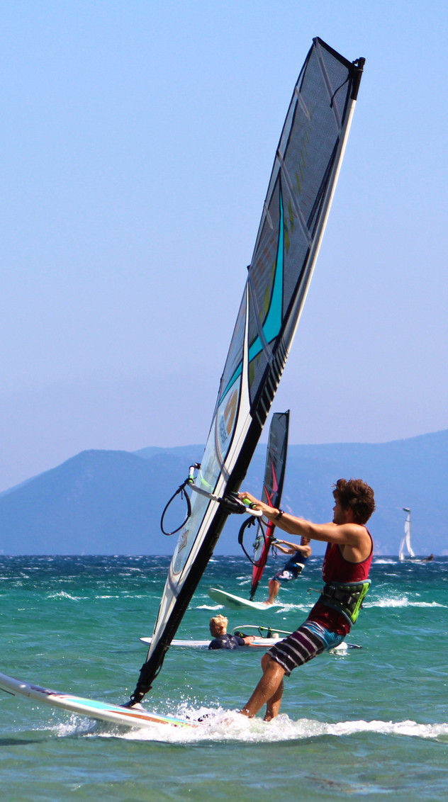 From windsurfing to kitesurfing Lefkada is an amazing island for adventure