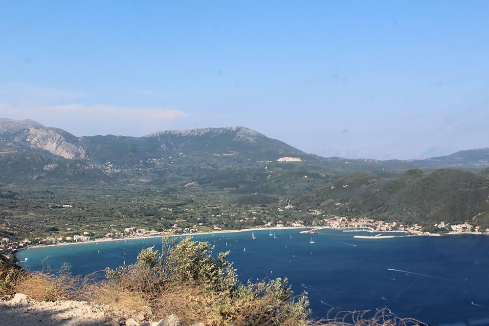 Vasiliki town on the south of Lefkada, perfect for windsurfing