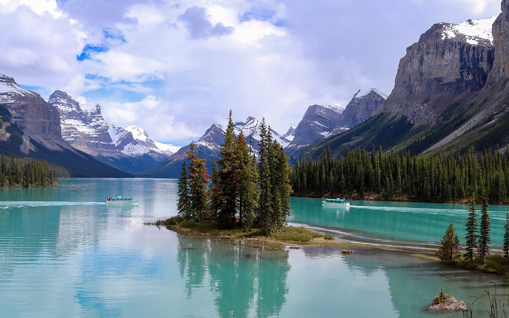 Beautiful Lake in the Rocky Mountains, Canada