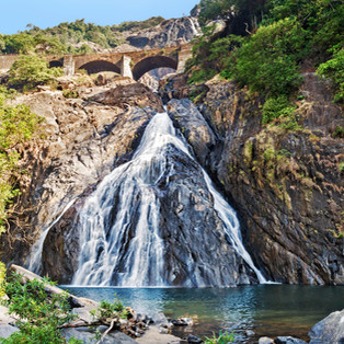 Dudhsagar Falls in Goa, India