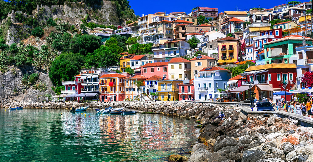 Parga Waterfront in Greece, South Ionian