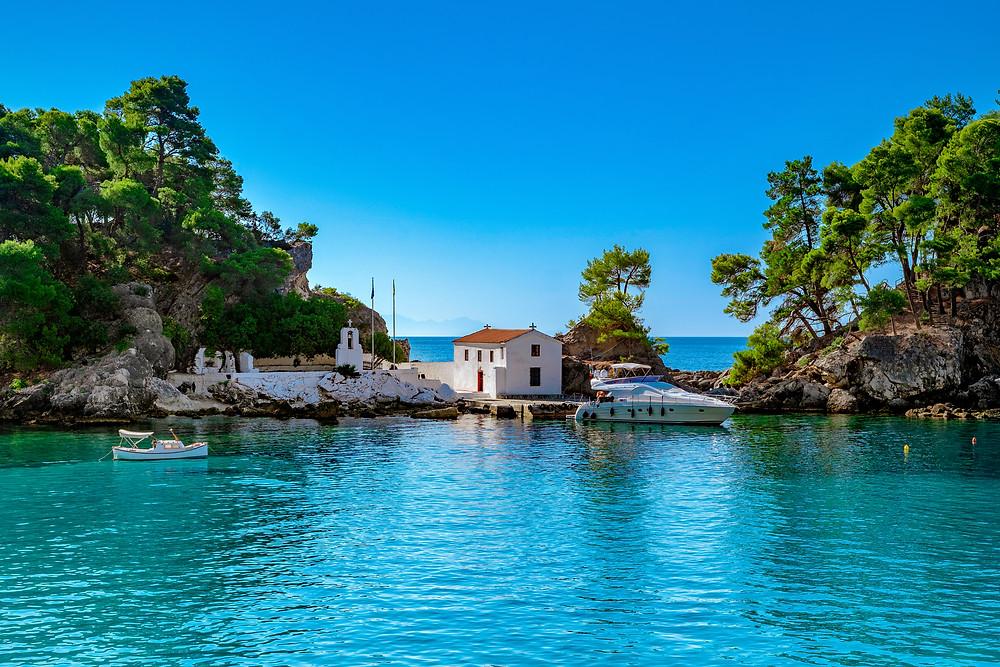 Island of Panagia in Parga, Greece