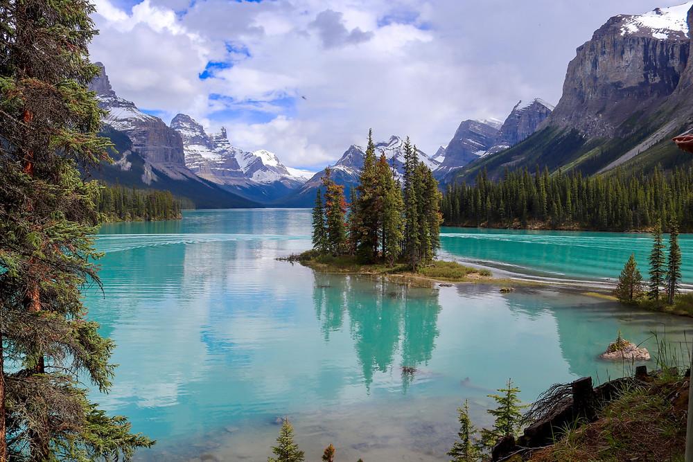 Spirit Island on Maligne lake in Canada