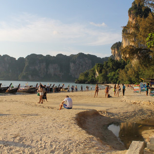Climbing in Railay Beach, Thailand