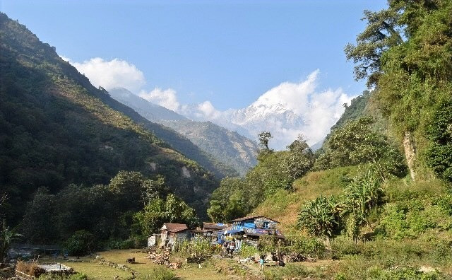 Trekking in the Himilays at Annapurna Valley, Nepal