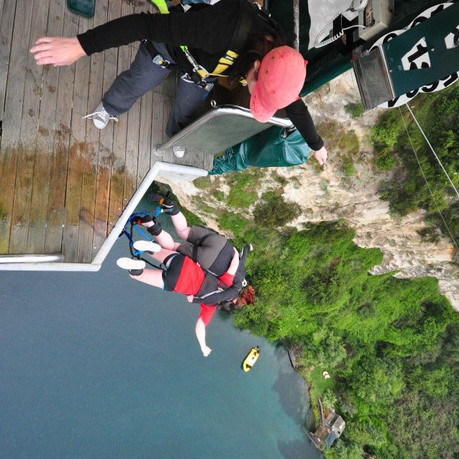 Bungy Jumping In Taupo, New Zealand