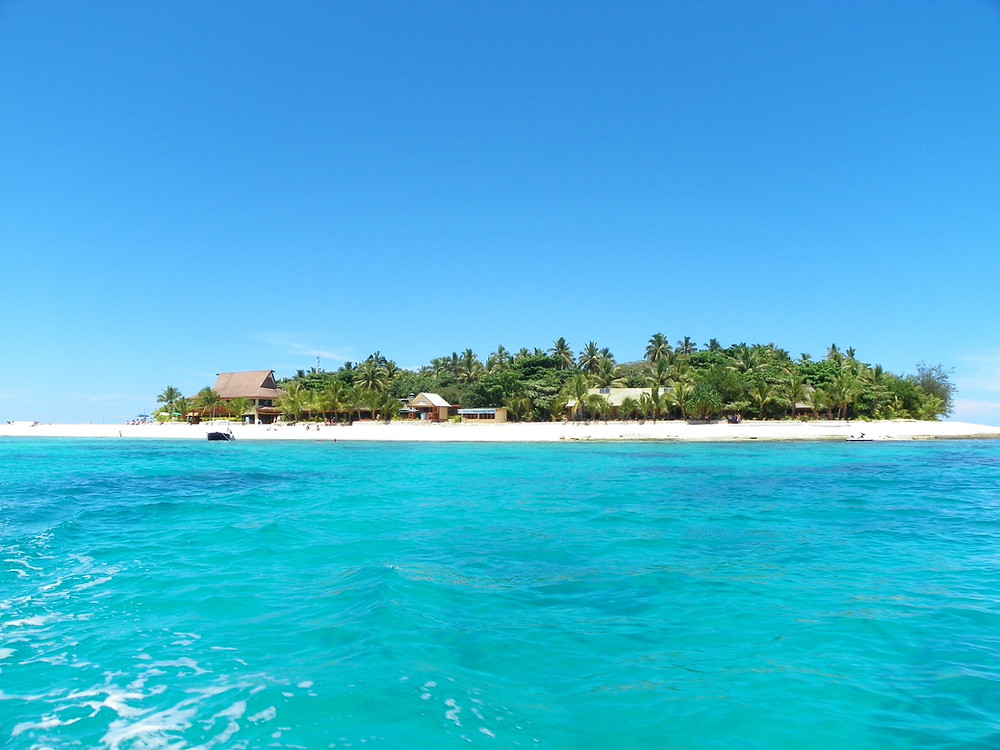 Beachcomber Island taken from our glass bottom boat and snorkel trip