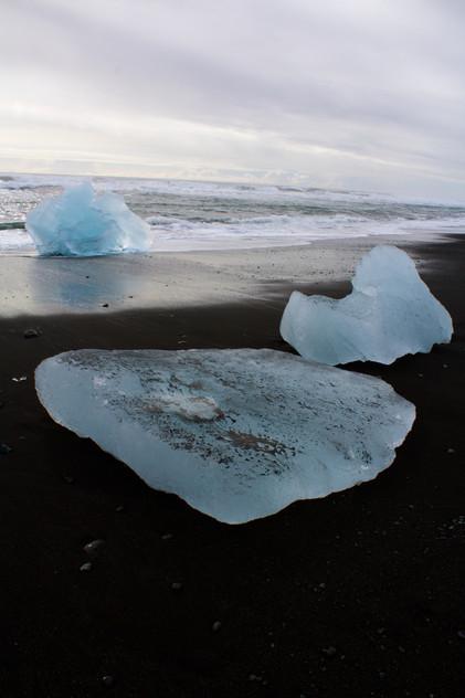 Icebergs on Black Sand Beach