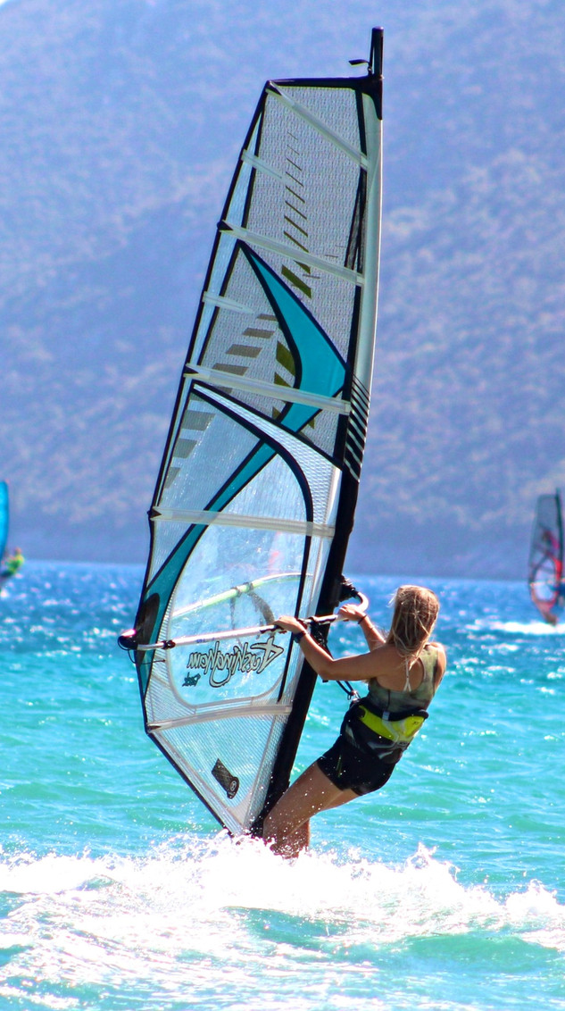 Windsurfing in the South Ionian, Greece