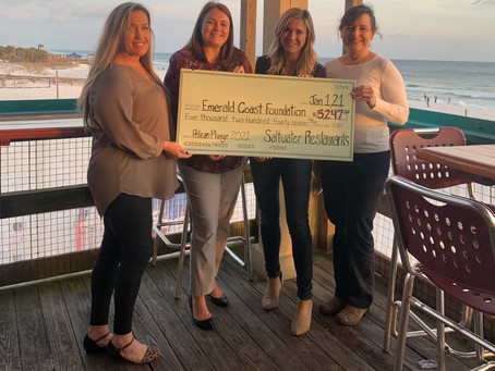 The Boardwalk raises $5,247 at the 5th Annual Pelican Plunge benefiting the Emerald Coast Foundation