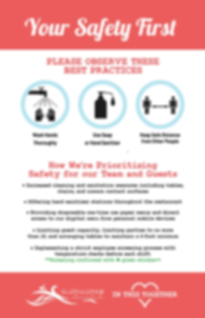 Saltwater Restaurants Safety Measures