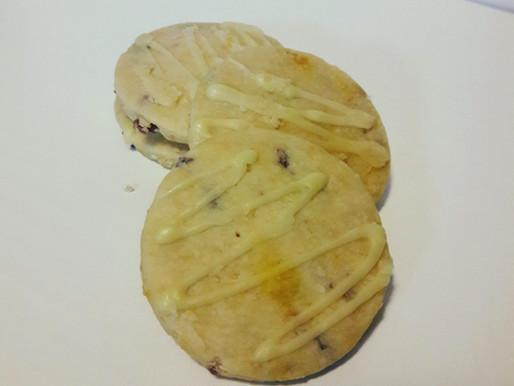 Vegan Orange Cranberry Shortbread Cookies
